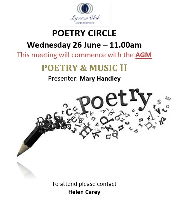Lyceum Poetry JUNE